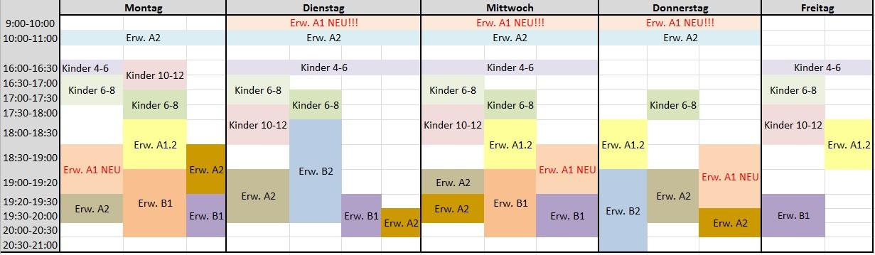 Stundenplan Deutsch